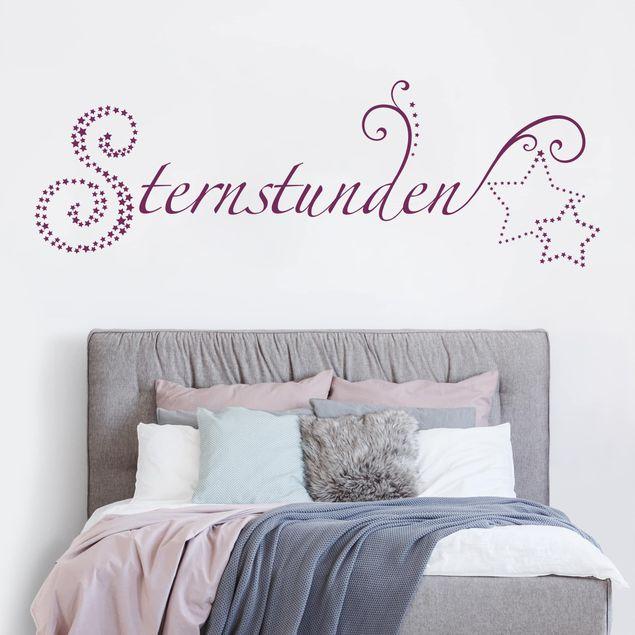 Wandtattoo Sprüche - Sternstunden und Sterne