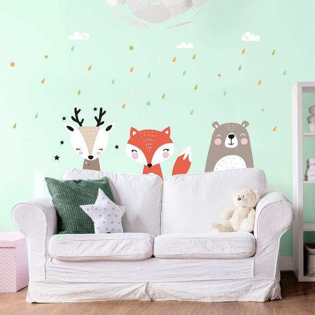 Wandtattoo - Süße Waldtiere
