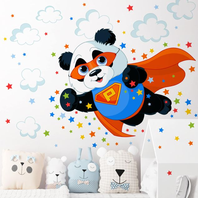 Wandtattoo - Super Panda