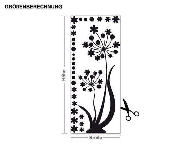 Wandtattoo Tanzende Blume