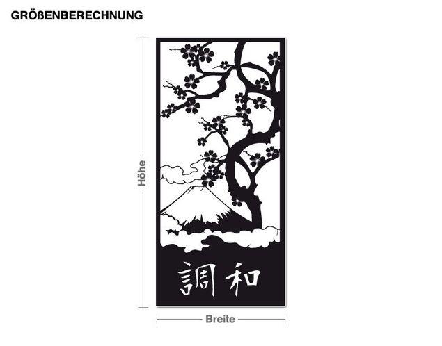 Wandtattoo-Tapete Japanische Harmonie
