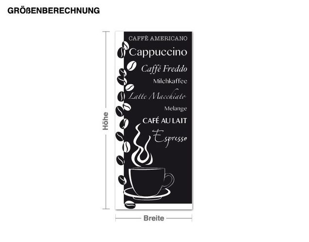 Wandtattoo-Tapete Lieblingskaffee