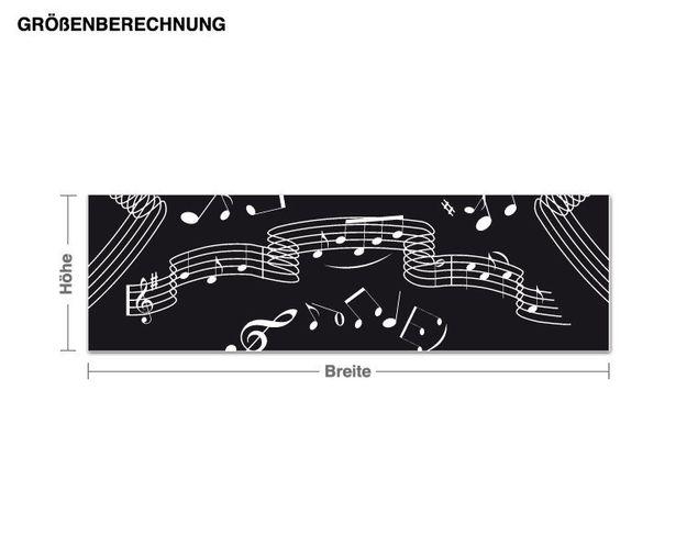 Wandtattoo-Tapete Musik