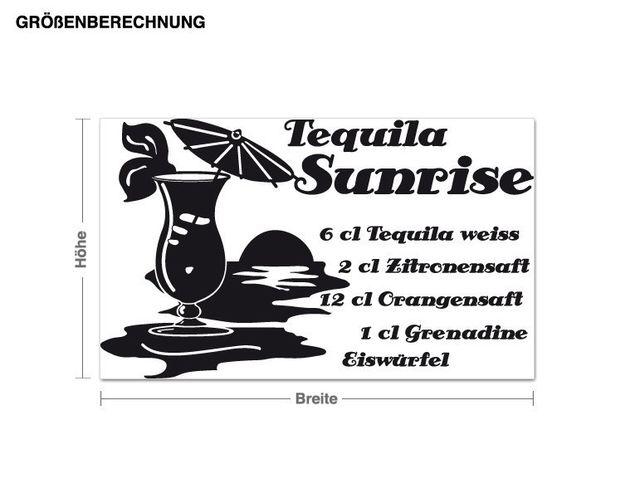 Wandtattoo Tequila Sunrise
