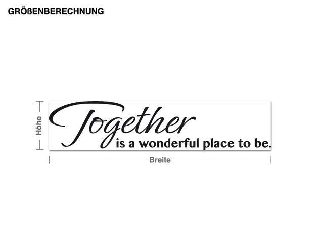 Wandtattoo Together