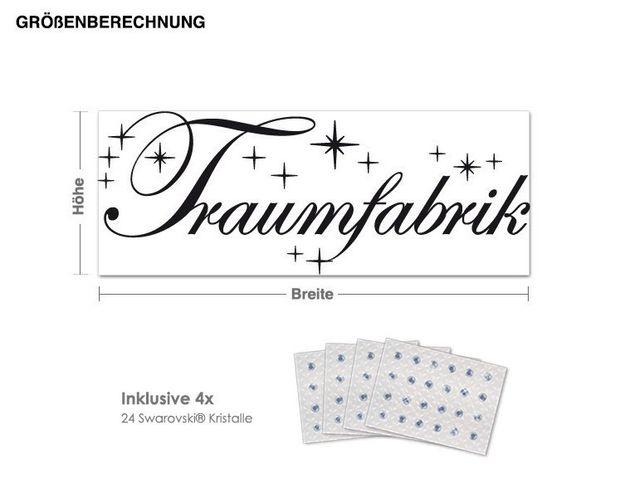 Wandtattoo Traumfabrik inkl. 4x 15 Swarovski® Kristalle