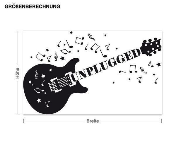Wandtattoo Unplugged