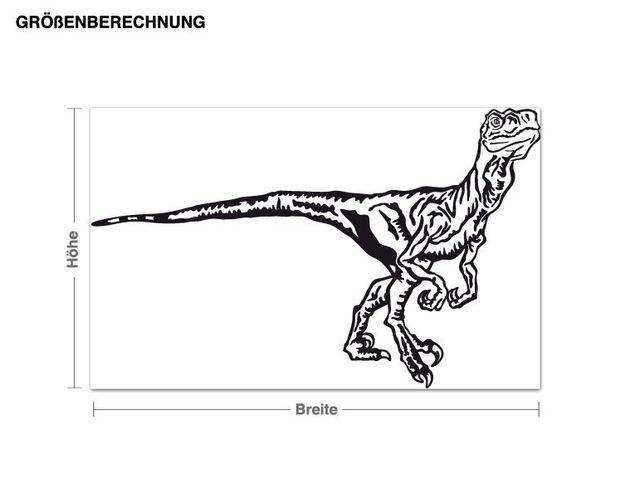 Wandtattoo Velociraptor