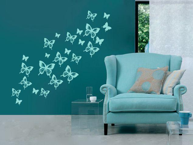Wandtattoo Viele Schmetterlinge