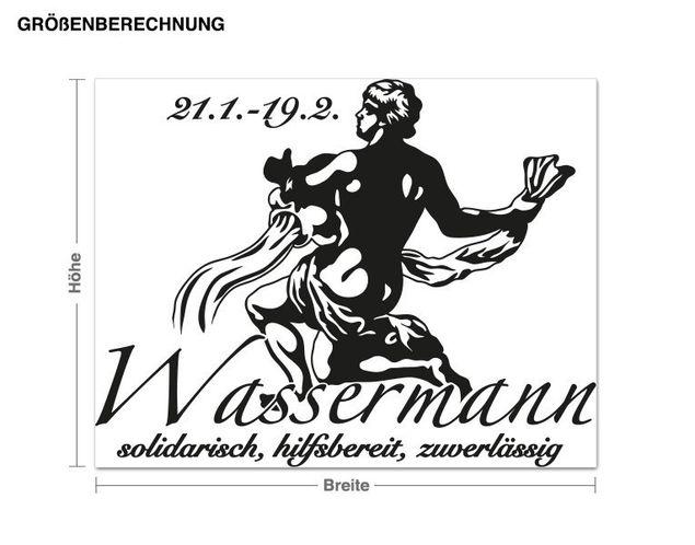 Wandtattoo Wassermann