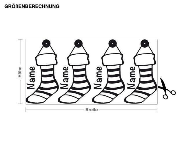 Wandtattoo Weihnachts-Socken