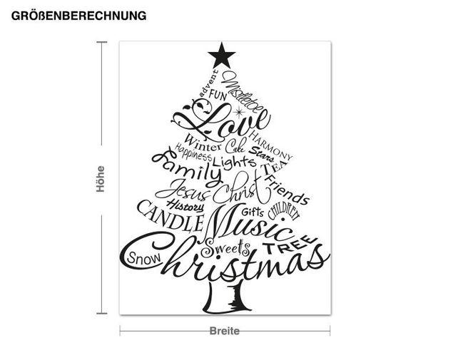 Wandtattoo Weihnachtsbaum Worte
