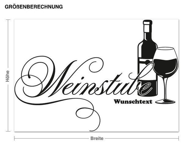Wandtattoo Weinstube