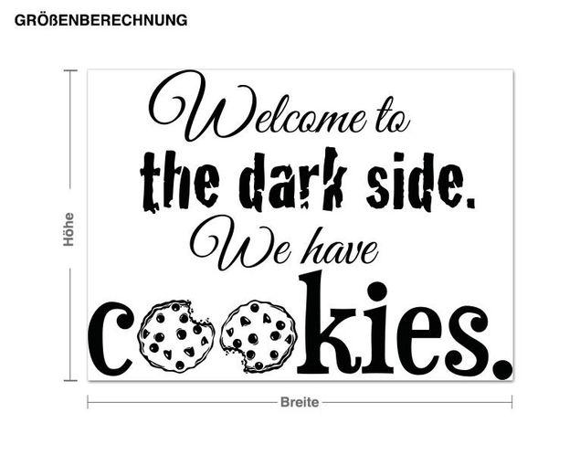 Wandtattoo Welcome to the dark side