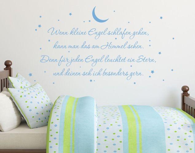 Wandtattoo Wenn kleine Engel schlafen gehen