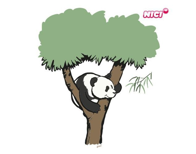 Wandtattoo Wild Friends Panda Fu Bao