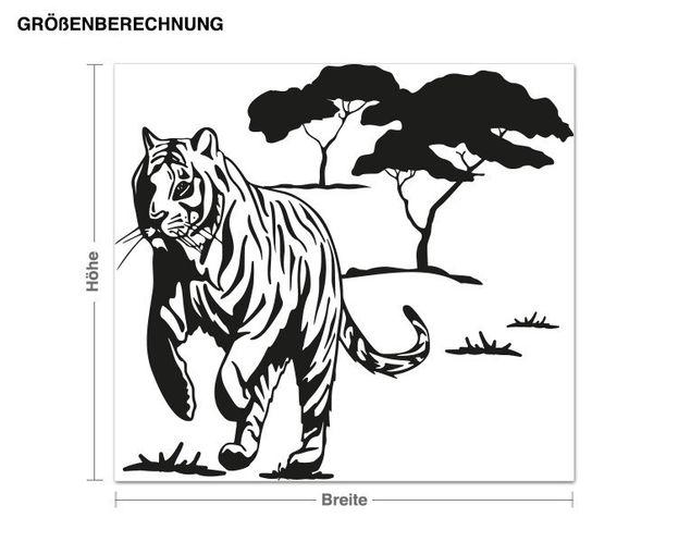 Wandtattoo Wilder Tiger