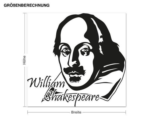 Wandtattoo William Shakespeare