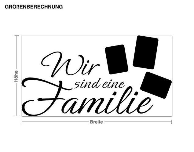 Wandtattoo Wir sind eine Familie