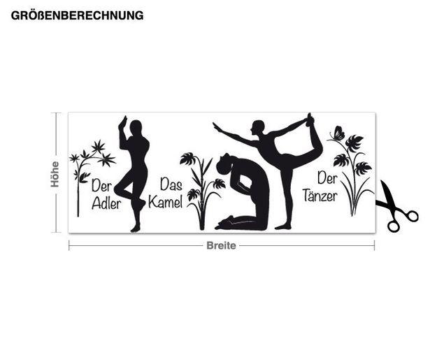 Wandtattoo Yoga Figuren Set 3