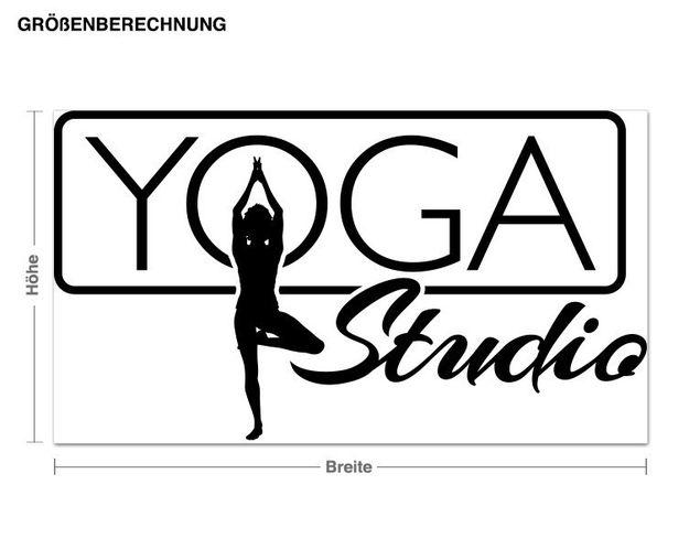 Wandtattoo Yoga Studio
