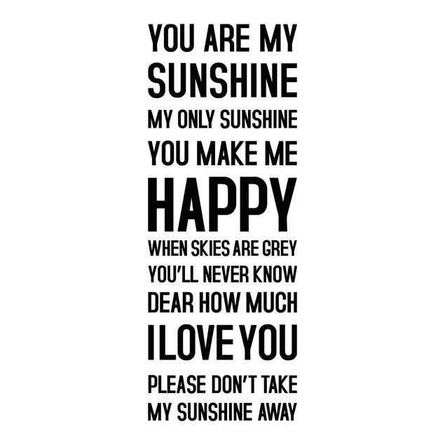 Wandtattoo Sprüche - You are my Sunshine