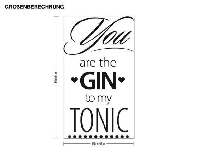 Wandtattoo You are the Gin to my Tonic