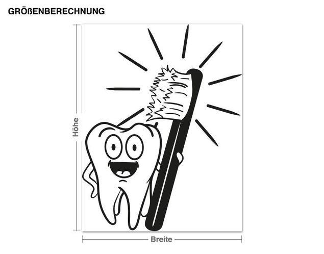 Wandtattoo Zähne putzen