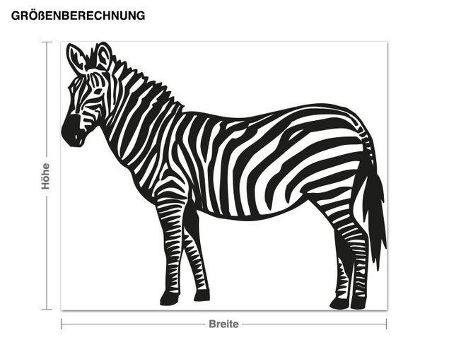 Wandtattoo Zebra