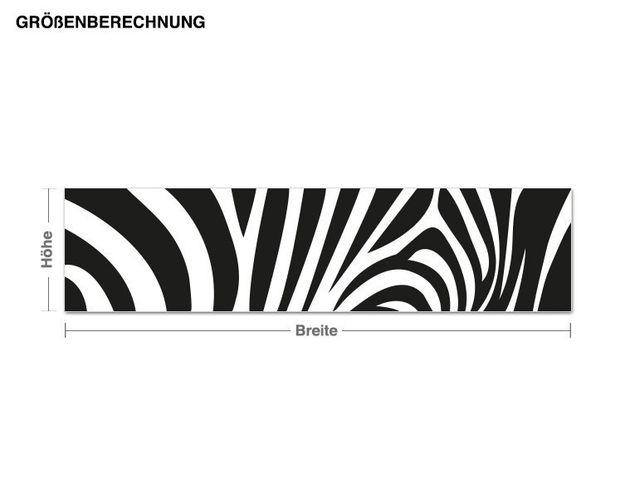 Wandtattoo Zebra Streifen