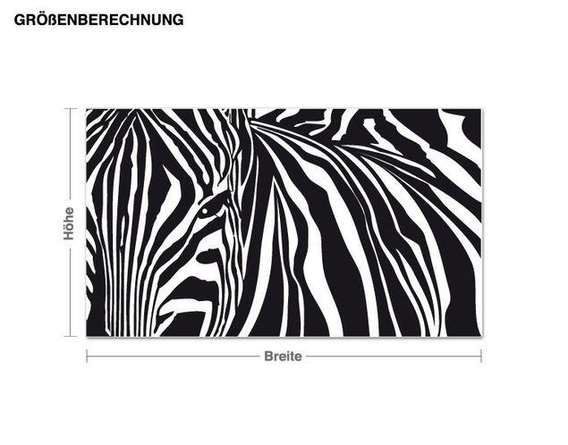 Wandtattoo Zebra-Streifen