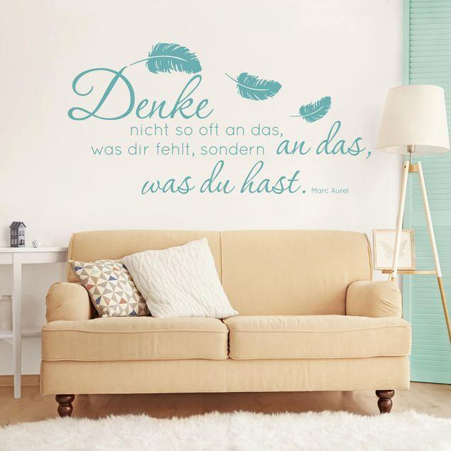 Wandtattoo Sprüche - Zitat Marc Aurel