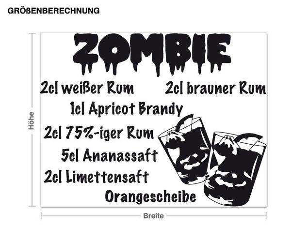 Wandtattoo Zombie