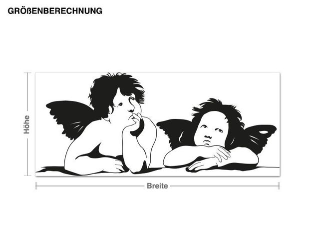 Wandtattoo Zwei Engel