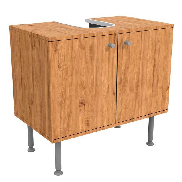 Waschbeckenunterschrank - Holz Libanon Zeder - Holzoptik Badschrank Beige Braun