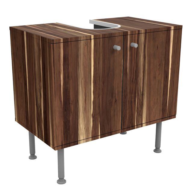 Waschbeckenunterschrank - Holz Manio - Holzoptik Badschrank Braun