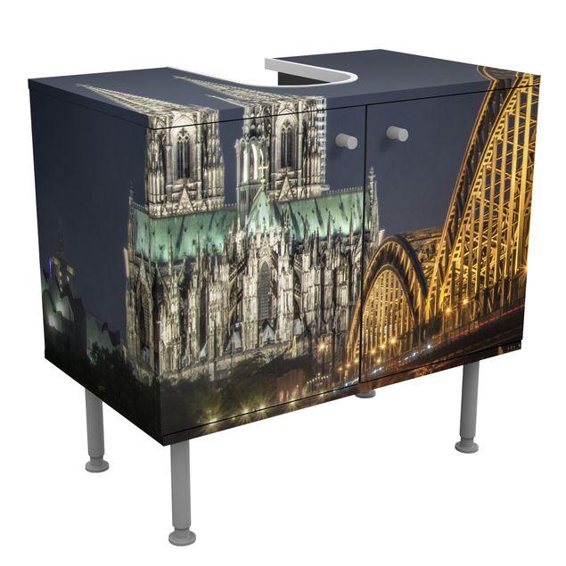 Waschbeckenunterschrank - Kölner Dom - Badschrank