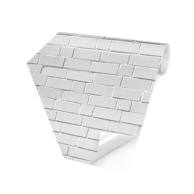 Hexagon Fototapete selbstklebend - White Stonewall