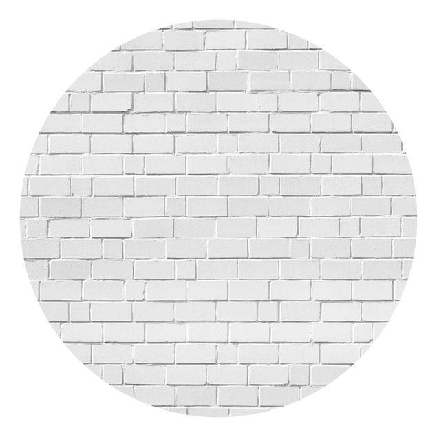 Runde Tapete selbstklebend - White Stonewall