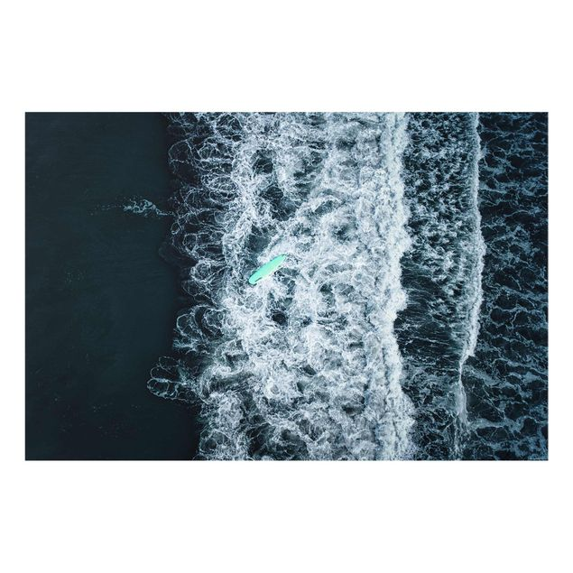Spritzschutz Glas - Wipe Out auf stürmischer See - Querformat 3:2