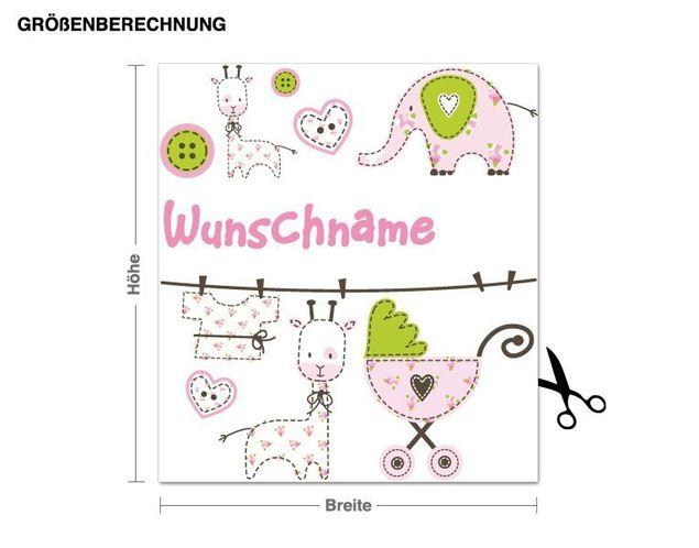 Wunschtext-Wandsticker Baby's Welt