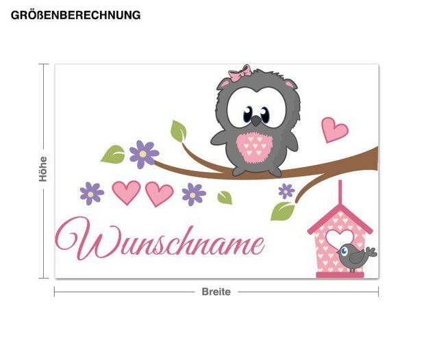 Wunschtext-Wandsticker Babyeule Girl