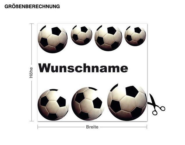 Wunschtext-Wandsticker Fussball