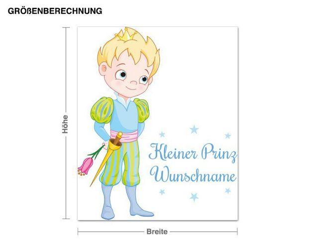 Wunschtext-Wandsticker Kleiner Prinz