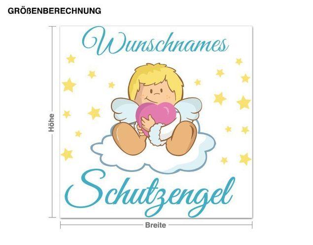 Wunschtext-Wandsticker Schutzengel