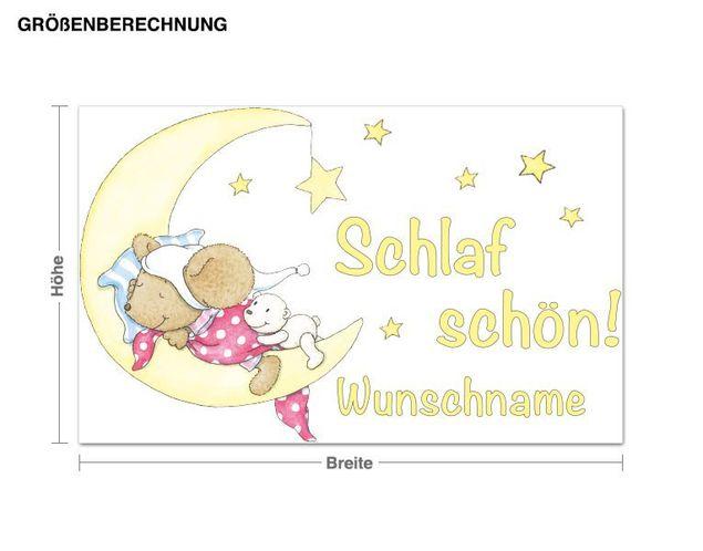 Wunschtext-Wandsticker Steinbeck Schlaf Schön!