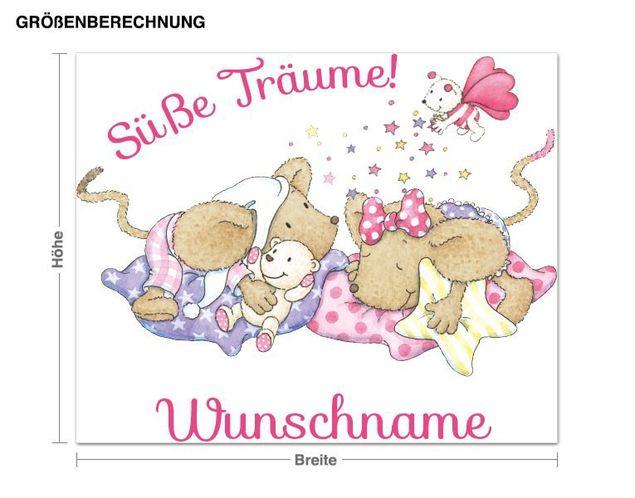 Wunschtext-Wandsticker Steinbeck Süße Träume