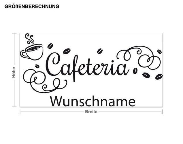 Wunschtext-Wandtattoo Cafeteria Wunschname