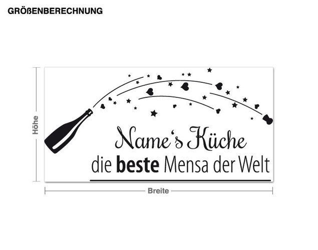 Wunschtext-Wandtattoo Die beste Mensa