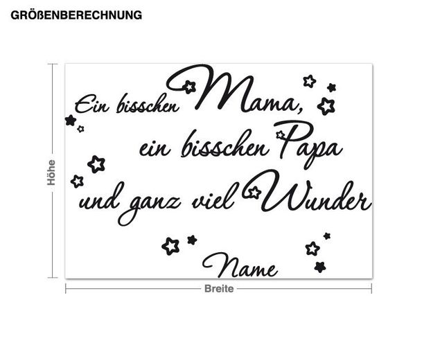 Wunschtext-Wandtattoo Ein bisschen Mama...